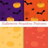 Satz Halloween-Hintergründe Sammlung von Stockfoto