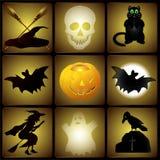 Satz Halloween-Illustrationen stock abbildung