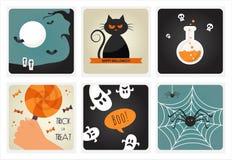 Satz Halloween-Konzepte Auch im corel abgehobenen Betrag lizenzfreie abbildung