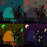 Satz Halloween-Schlösser Lizenzfreie Stockbilder
