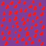 Satz Hand gezeichnete Herzen stockfotos