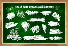 Satz Hand gezeichnete Kreidefahnen 2 Lizenzfreie Stockfotografie