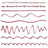 Satz Hand gezeichnete Teiler. Vektor Abbildung