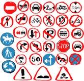 Satz Hand gezeichnete Verkehrsschilder Lizenzfreies Stockfoto