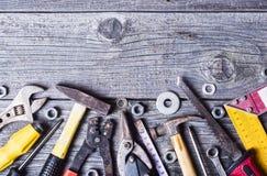 Satz Handalte Werkzeuge Stockbilder