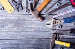 Satz Handalte Werkzeuge Lizenzfreie Stockfotografie