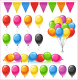 Satz helle glatte farbige Ballone Lizenzfreie Stockfotografie