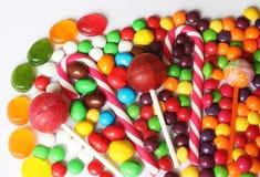 Satz helle sortierte Süßigkeiten Stockbilder