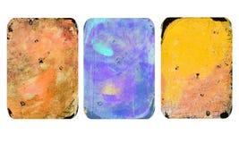 Satz helle unscharfe abstrakte Beschaffenheiten Bunte handgemachte Hintergründe mit Impressen, Flecke, rieben Bereiche ab stock abbildung