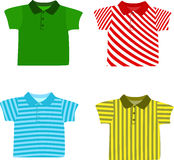 Satz Hemden des Jungen Stockfotografie