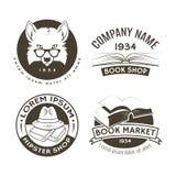 Satz Hippie-Logos und -aufkleber Lizenzfreies Stockbild
