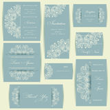 Satz Hochzeitseinladungskarten Lizenzfreies Stockfoto