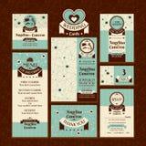 Satz Hochzeitskarten Stockbilder