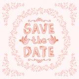 Satz Hochzeitsverzierungen und dekorative Elemente Lizenzfreies Stockbild
