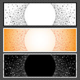 Satz horizontale Fahnen - 06 Stockfoto