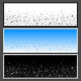 Satz horizontale Fahnen - 07 Stockbilder