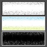 Satz horizontale Fahnen - 09 Lizenzfreies Stockbild