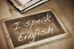 Ich spreche Englisch stockfotos