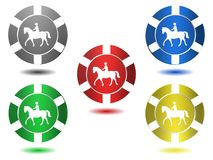 Satz Ikonen in der Farbe, Pferd, Illustration Stockfotos