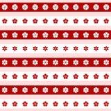 Satz Ikonen der roten und weißen Blume, Illustration Stockfotos