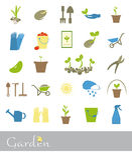 Satz Ikonen des Gartens Stockbilder