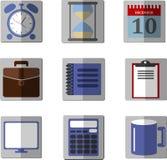 Satz Ikonen für Büro lizenzfreie abbildung