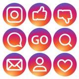 Satz Ikonen im neuen Logodesign mit Steigung Lizenzfreies Stockfoto