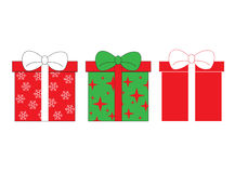 Satz Ikonen von Geschenkboxen Lizenzfreie Stockfotos