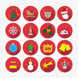 Satz Ikonen - Weihnachten Lizenzfreies Stockbild
