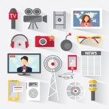 Satz Ikonentelekommunikation Stockfoto