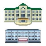 Satz - Illustration mit zwei Vektoren von modernen Gebäuden Lizenzfreies Stockfoto