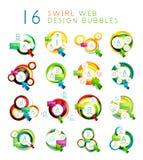 Satz infographic Blasen des Strudelwebdesigns Stockfoto