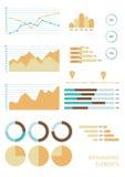 Satz infographic Geschäftselemente Lizenzfreie Stockfotografie