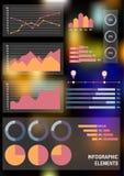 Satz infographic Geschäftselemente Lizenzfreie Stockbilder