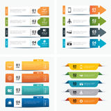 Satz infographic Schablonen Lizenzfreies Stockbild