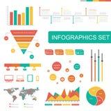 Satz infographics Elemente stockfotos