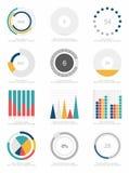 Satz infographics Elemente Lizenzfreies Stockbild