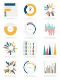 Satz infographics Elemente Stockbilder