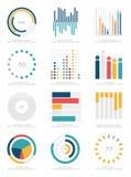 Satz infographics Elemente Lizenzfreie Stockbilder