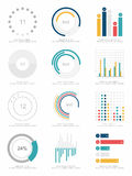 Satz infographics Elemente Stockbild