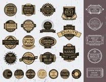 Satz Insignien, Firmenzeichen, Dichtungen, stempelt lizenzfreie abbildung