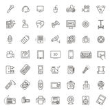 Satz intelligente Geräte und Geräte, Computerausrüstung und Elektronik Stockfotos
