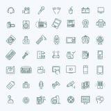 Satz intelligente Geräte und Geräte, Computerausrüstung und Elektronik stock abbildung