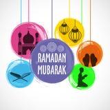 Satz islamische Elemente für Ramadan Mubarak Lizenzfreie Stockbilder