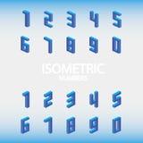 Satz isometrische Zahlen blau Lizenzfreie Stockfotografie
