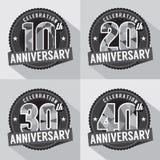 Satz Jahrestags-Feier-Design lizenzfreie abbildung