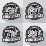 Satz Jahrestags-Feier-Design vektor abbildung