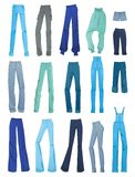 Satz Jeans der Frauen Stockfoto