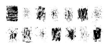 Satz künstlerische schwarze Schmutzhintergründe Vektorvorlage ist- zum Download betriebsbereit Schmutziges künstlerisches Gestalt lizenzfreie stockfotografie