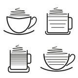Satz Kaffeepiktogramme Lizenzfreie Stockbilder